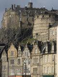 View of Edinburgh Castle from Grassmarket, Edinburgh, Lothian, Scotland, United Kingdom, Europe Reproduction photographique par Ethel Davies