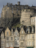 View of Edinburgh Castle from Grassmarket, Edinburgh, Lothian, Scotland, United Kingdom, Europe Photographic Print by Ethel Davies