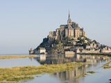 Mont-Tombe and the 12th Century Benedictine Abbey of Mont-St.-Michel, Basse Normandie, France Photographic Print by James Emmerson