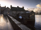 Lerwick Seafront, with Wharves and Slipways, Lerwick, Mainland, Shetland Islands, Scotland, UK Photographic Print by Patrick Dieudonne