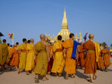 Makka Bu Saa Buddhist Celebration, During Pha That Luang, Vientiane, Laos Photographic Print by Alain Evrard