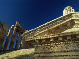 Entry to the Roman Temple of Bacchus, Baalbek, UNESCO World Heritage Site, Lebanon, Middle East Photographic Print by Fred Friberg