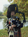Bagpiper, Scotland, United Kingdom, Europe Photographic Print by Nigel Francis
