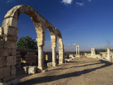 Main Street with Arcades and Tetrastyle, Umayyad Anjar, Lebanon, Middle East Photographic Print by Fred Friberg