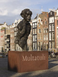 Sculpture of Writer Multatuli, Real Name Eduard Douwes Dekker, Amsterdam, Netherlands, Europe Photographic Print by Amanda Hall