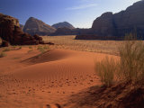 Desert at Wadi Rum, Jordan, Middle East Photographic Print by Fred Friberg