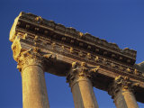 Huge Entablature on the Colums of Jupiter, Baalbek, Lebanon, Middle East Photographic Print by Fred Friberg