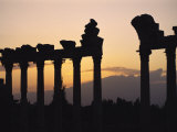 Columns in Public Building, Probably the Court of Justice, Baalbek, Lebanon, Middle East Photographic Print by Fred Friberg