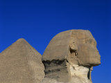 Great Sphinx and One of the Pyramids, Giza, UNESCO World Heritage Site, Cairo, Egypt Photographic Print by Nigel Francis