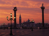 View across St. Marks Square Towards San Giorgio Maggiore at Sunrise, Venice, Veneto, Italy Photographic Print by Lee Frost