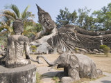 Buddha Park, Xieng Khuan, Vientiane, Laos, Indochina, Southeast Asia Photographic Print by Robert Harding