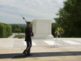 Guard at the Tomb of the Unknown Soldier, Arlington National Cemetery, Arlington, Virginia, USA Photographic Print by Robert Harding