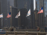 Flags, Chicago, Illinois, United States of America, North America Photographic Print by Robert Harding