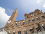 Piazza Del Campo and the Palazzo Pubblico with its Amazing Bell Tower, Siena, Tuscany, Italy Photographic Print by Robert Harding
