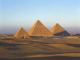 Giza Pyramids, Giza, UNESCO World Heritage Site, Cairo, Egypt, North Africa, Africa Photographic Print by Nigel Francis