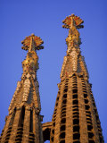 Spires of the Sagrada Familia, the Gaudi Cathedral, in Barcelona, Cataluna, Spain, Europe Photographic Print by Nigel Francis