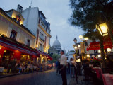 Place Du Tertre, with the Dome of Sacre Coeur Behind, Montmartre, Paris, France Photographic Print by Robert Francis