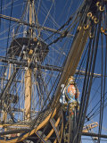 Hms Victory, Flagship of Admiral Horatio Nelson, Portsmouth, Hampshire, England, UK Stampa fotografica di James Emmerson