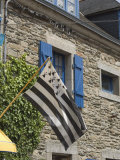 Breton Flag in the Old Walled Town of Concarneau, Southern Finistere, Brittany, France, Europe Photographic Print by Amanda Hall