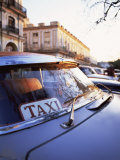Classic American Car with Taxi Sign in Windscreen, Havana, Cuba, West Indies, Central America Photographic Print by Lee Frost