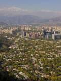 Aerial View of Santiago, Chile, South America Photographic Print by Gavin Hellier