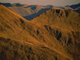Early Morning Light on Mountains on the French Side of the Pyrenees, France, Europe Photographic Print by Fred Friberg
