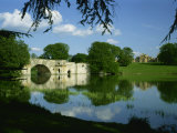 Bridge, Lake and House, Blenheim Palace, Oxfordshire, England, United Kingdom, Europe Photographic Print by Nigel Francis