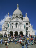 Tourists Sitting on Steps before the Sacre Coeur, Montmartre, Paris, France, Europe Photographic Print by Nigel Francis