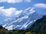 Mount Cook, at 3755M, the Highest Mountain in N.Z., Canterbury, South Island, New Zealand, Pacific Photographic Print by Robert Francis