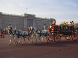 Royal Carriage Outside Buckingham Palace, London, England, United Kingdom, Europe Photographic Print by Nigel Francis