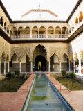Patio De Las Doncellas, Real Alcazar, Santa Cruz District, Seville, Andalusia, Spain Photographic Print by Robert Harding