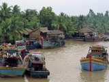Mekong Delta River Mouth, Rach Gia City, Vietnam, Indochina, Southeast Asia Photographic Print by Alain Evrard