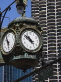 Old Clock, 33 East Wacker Drive, Formerly known as the Jewelery Building, Chicago, Illinois, USA Photographic Print by Amanda Hall