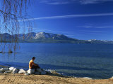 View of South Beach, Lake Tahoe, California, United States of America, North America Photographic Print by Nigel Francis