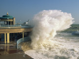 Waves Pounding Bandstand, Storm in Eastbourne, East Sussex, England, United Kingdom, Europe Photographic Print by Ian Griffiths