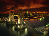 Aerial View over Tower Bridge, London, England, United Kingdom, Europe Photographic Print by Dominic Harcourt-webster