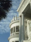 Detail of Portico and Ionic Columns of 25 East Battery, Charleston, South Carolina, USA Photographic Print by James Green
