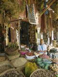 Apothecary Stall in Rahba Kedima, the Medina, Marrakech, Morroco, North Africa, Africa Photographic Print by Lee Frost