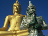 Giant Statue of Buddha and Guard, Koh Samui, Thailand, Southeast Asia Photographic Print by Dominic Harcourt-webster