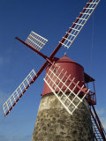 Restored Mill, Madalena, Pico, Azores, Portugal, Europe Photographic Print by Ken Gillham