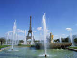 Eiffel Tower with Water Fountains, Paris, France, Europe Photographic Print by Nigel Francis
