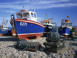 Fishing Boats on the Beach at Beer in Devon, England, United Kingdom, Europe Photographic Print by Nigel Francis