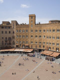 View of the Piazza Del Campo from the Palazzo Pubblico, Siena, Tuscany, Italy Photographic Print by Robert Harding