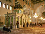 Shrine of the Head of John the Baptist Inside Umayyad Mosque Dating from 705 AD, Damascus, Syria Photographic Print by Ken Gillham