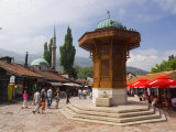 Sebilj, a Moorish-Style Fountain, Old Town, Sarajevo, Bosnia Herzegovina Photographic Print by Gavin Hellier