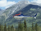 Helicopter in the Rocky Mountains, British Columbia, Canada, North America Photographic Print by Robert Harding