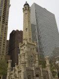 Historic Water Tower, North Michigan Avenue, Chicago, Illinois, USA Photographic Print by Amanda Hall