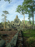 Bayon at Angkor, UNESCO World Heritage Site, Siem Reap, Cambodia, Indochina, Southeast Asia Photographic Print by Tim Hall