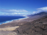 View of Playa De Cofete, Jandia Peninsula, Fuerteventura, Canary Islands, Spain, Atlantic, Europe Photographic Print by Nigel Francis
