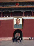 Huge Portrait of Mao Tse Tung at the Forbidden City, Beijing, China Photographic Print by Ursula Gahwiler